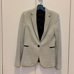 Zara basics cotton jersey blazer